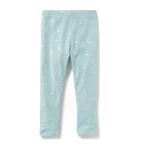 NWT Mint/Silver Unicorns Printed Leggings 18-24mo